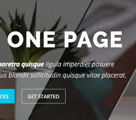 One Page Website (parallax)